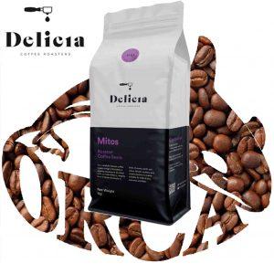 """פולי קפה MITOS במשקל 1ק""""ג של Delicia"""