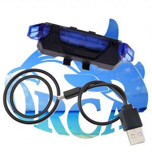 פנס אחורי לאופניים נטען USB