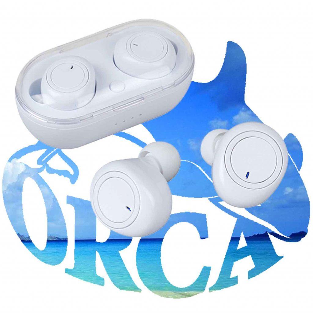 אוזניות Bluetooth EarBuds TWS איכותיות לבנות במארז טעינה